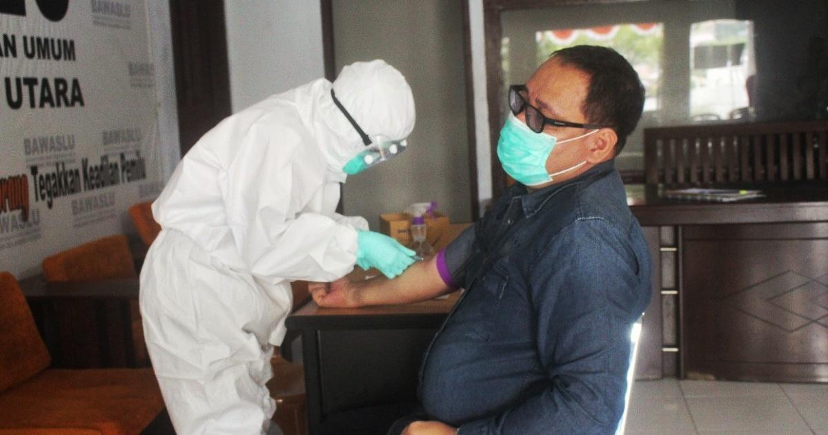 Hasil Rapid Test, 11 Panwaslucam dan Staf Bawaslu Kota di Sulut Reaktif