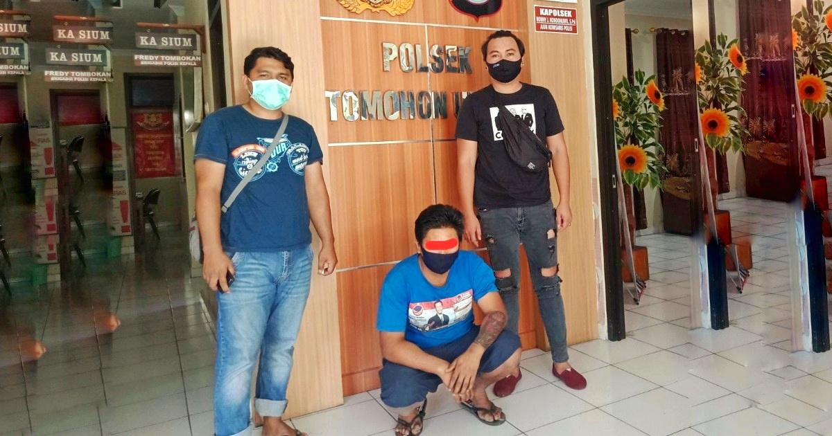 Rusak Rumah Ronny, Charles Diamankan URC Totosik Polres Tomohon