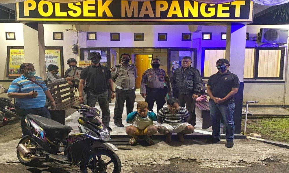Timsus Maleo Polda Sulut Ciduk Dua Pelaku Curanmor di Kabupaten Minut
