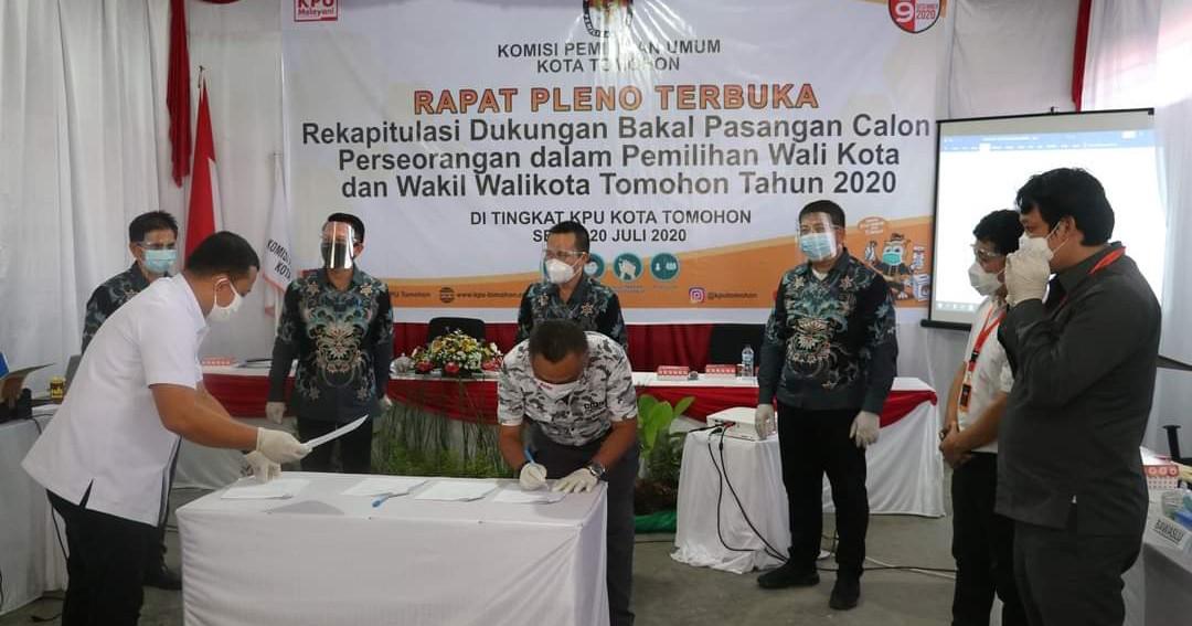 KPU Plenokan Rekapitulasi Dukungan Bapaslon Perseorangan