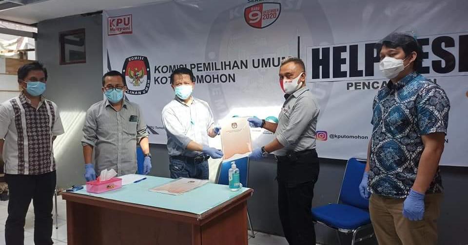 Vermin Dukungan Perbaikan Diserahkan KPU Tomohon, 'RoSe' Penuhi Syarat Jumlah Dukungan