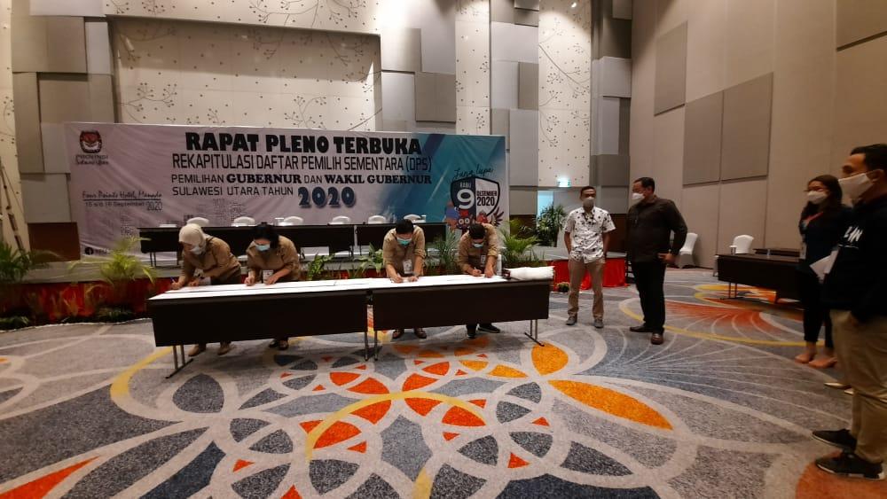 DPS Pilgub Ditetapkan KPU Sulut, Jumlah Pemilih Berkurang 79.556 Dibanding Pileg 2019