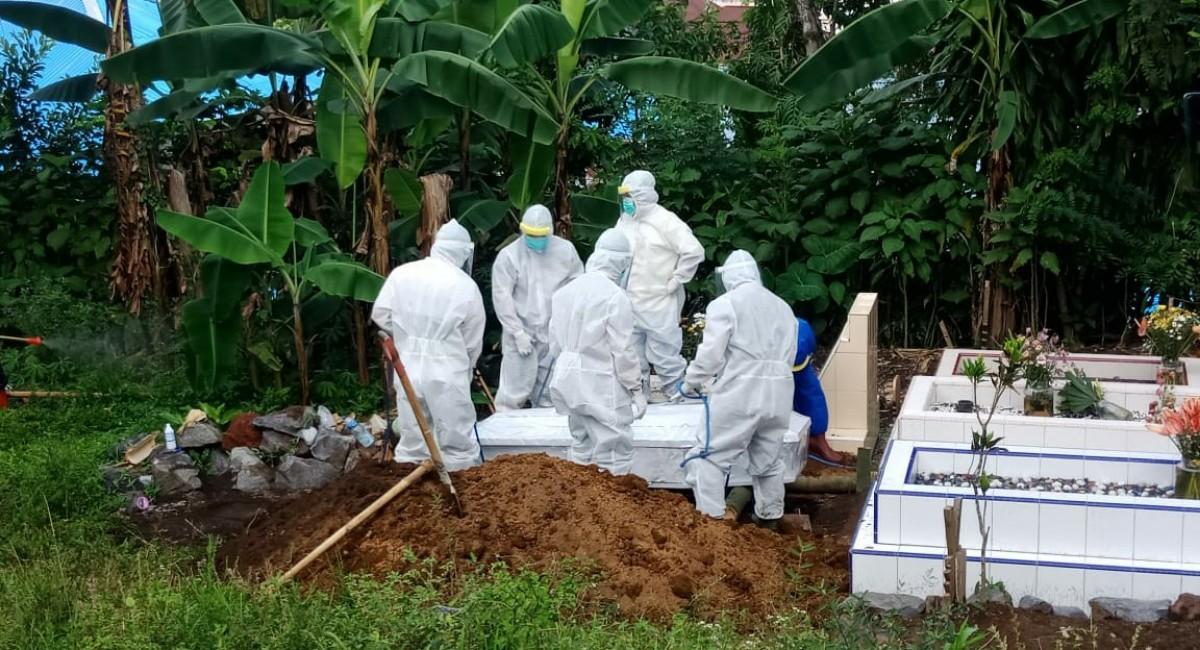 proses pemakaman PDP asal minahasa