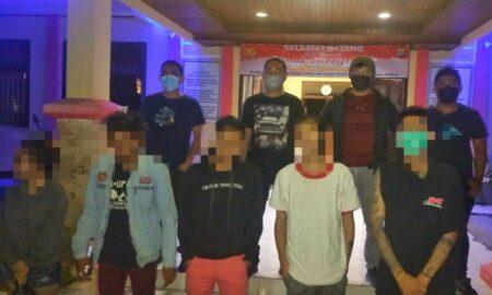 Pesta Miras dan Hirup Lem, 5 Pemuda Tomohon Diamankan Tim Totosik di Pasar Wilken