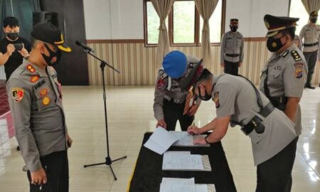 Tiga Jabatan Strategis di Polres Tomohon Berganti, Kompol Temmy Jabat Kabag Ops