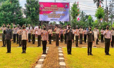 HUT Bhayangkara ke 75, 25 Personel Polres Tomohon Naik Pangkat